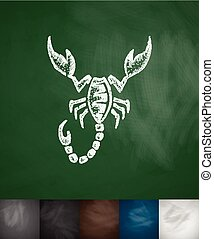 scorpio icon. Hand drawn vector illustration