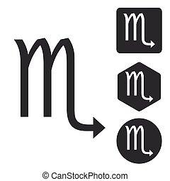 Scorpio icon set, monochrome