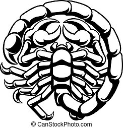 Scorpio Scorpion Zodiac Astrology Sign - Scorpio scorpion...
