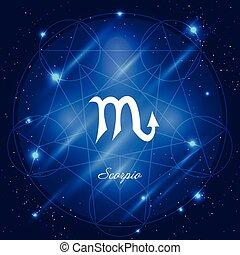 Scorpio sign of the zodiac - Zodiac sign scorpio. Vector...