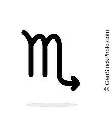 Scorpio zodiac icon on white background.