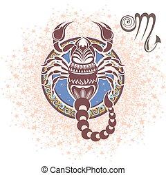 Scorpio. Zodiac sign - Zodiac symbol for your design