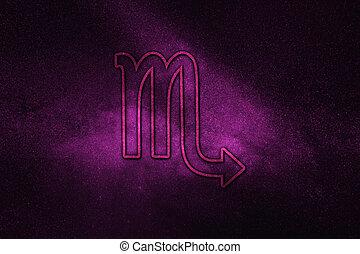 Scorpio zodiac sign, night sky,?Horoscope Astrology background,?Scorpio horoscope symbol