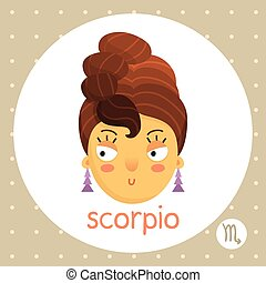 Scorpio zodiac sign, scorpion-girl
