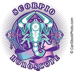 Scorpio zodiac sign - Vector illustration of magic horoscope...