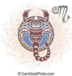 Scorpio. Zodiac sign - Zodiac symbol for your design