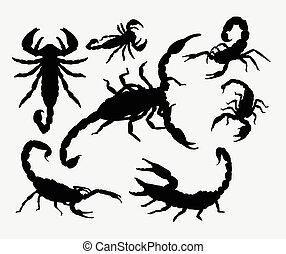 Scorpion animal silhouettes
