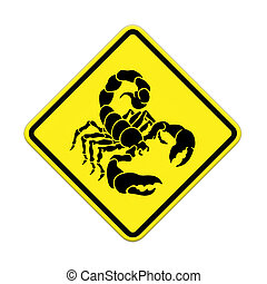 Scorpion Caution Sign