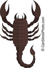 Scorpion icon, cartoon style