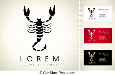 Scorpion logo animal vector design