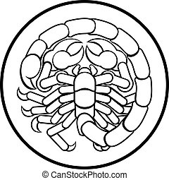 scorpion, scorpion, zodiaque, signe horoscope