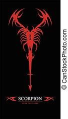 scorpion.Red Scorpion. elegant stylized scorpion. Suitable...