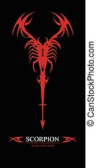 scorpion.Red Scorpion. elegant stylized scorpion. Suitable...