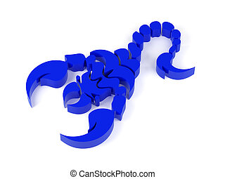 scorpions - High resolution image. 3d rendered illustration....
