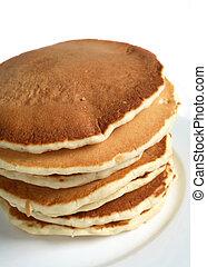 Scotch pancake pile - A pile of traditional scottish...