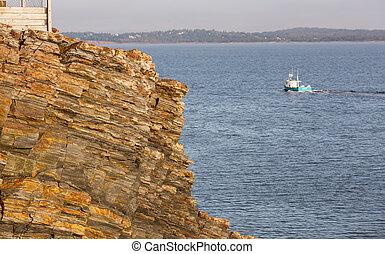 scotia, 바위가 많은, nova, 해안선