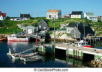 scotia, pesca, nova, aldea