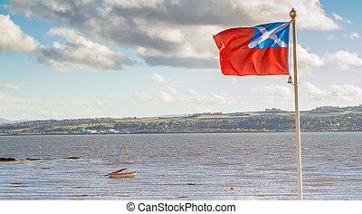 scotland 旗, 吹乘風