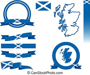 Scotland Banner Set - Set of vector graphic