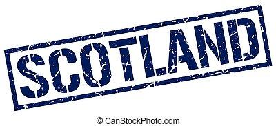 Scotland blue square stamp