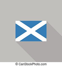 Scotland flag flat design vector illustration