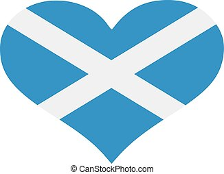 Scotland flag heart