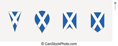 Scotland flag in vertical design, vector illustration