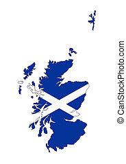 scotland flag map
