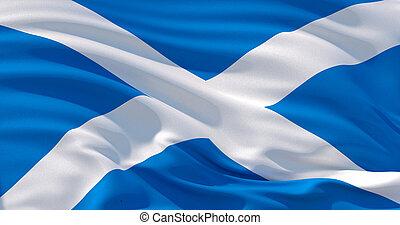 Scotland flag patriotic background, 3d illustration
