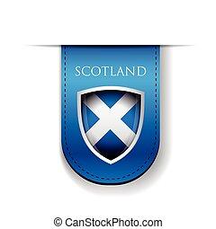 Scotland flag shield ribbon