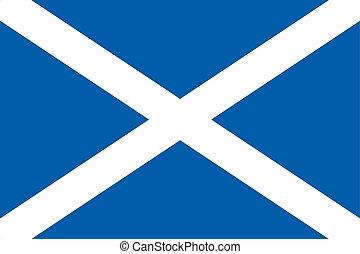 Scotland Flag, UK. Vector Format