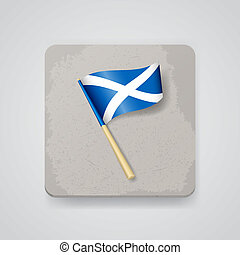 Scotland flag, vector icon