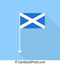 Scotland Flag. Vector illustration .