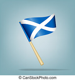 Scotland flag, vector illustration