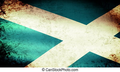 Scotland Flag Waving, grunge look