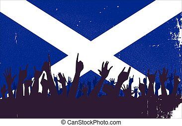 Scotland Flag with Audience