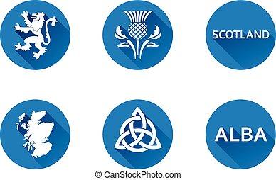 Scotland Flat Icon Set 2