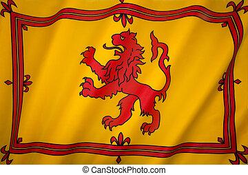 Scotland - Lion Rampant Flag - The Royal Standard of...