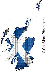Scotland map grunge mosaic