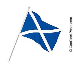 Scotland national flag. vector illustration