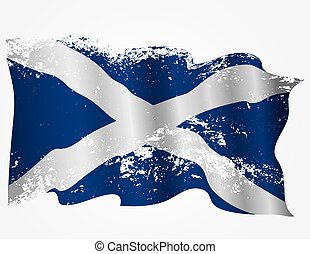 Scotland or Scottish grunge flag. Eps10
