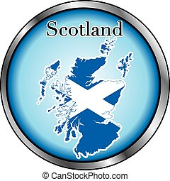 Scotland Round Button