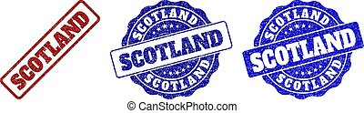 SCOTLAND Scratched Stamp Seals