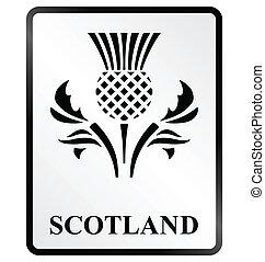 Scotland Sign - Monochrome Scotland public information sign...
