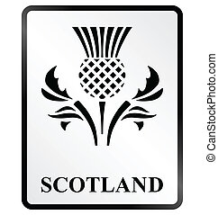 Scotland Sign - Monochrome Scotland public information sign...