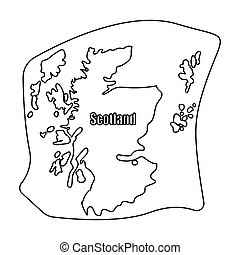 Scotland the map.Scotland is a Country on the world...