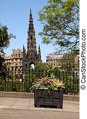 Scott Monument, Edinburgh - The Scott Monument on...