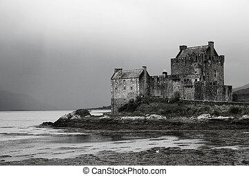 Scottish Castle on loch