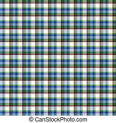 Scottish cell white, blue, green, seamless pattern, colorful background, english style
