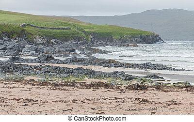 Scottish coastline and beach